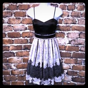 Sweet Black and white dress with spaghetti straps